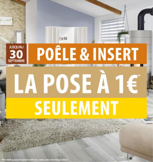 Pose poêle à bois ou poêle à granulés ou insert pour 1€