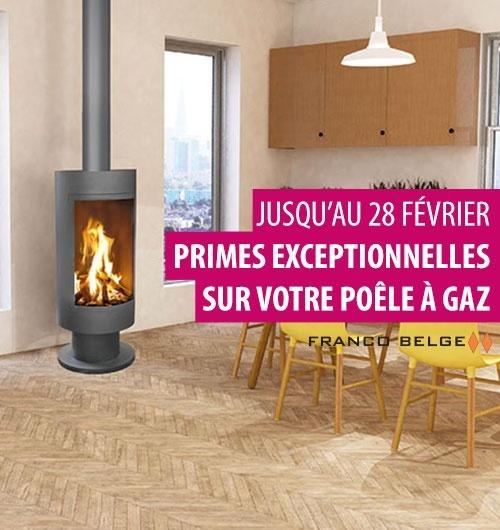 Profitez de primes exceptionnelles* sur votre poêle à gaz Franco Belge