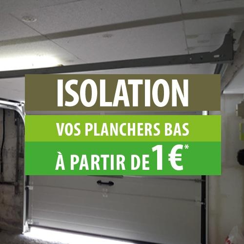 Isolation plancher bas à partir de 1€