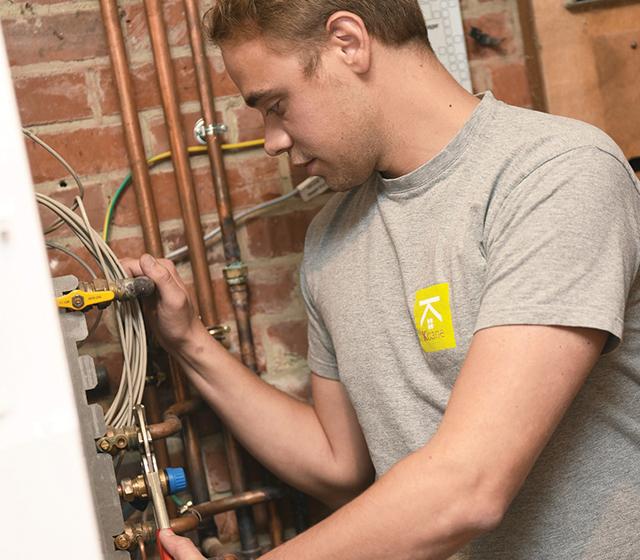 Il est facile d'installer une chaudière gaz à condensation
