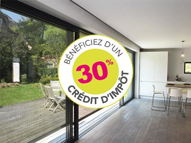 Profitez de 30% sur vos fenêtres et portes d'entrée, un crédit d'impôt transition énergétique