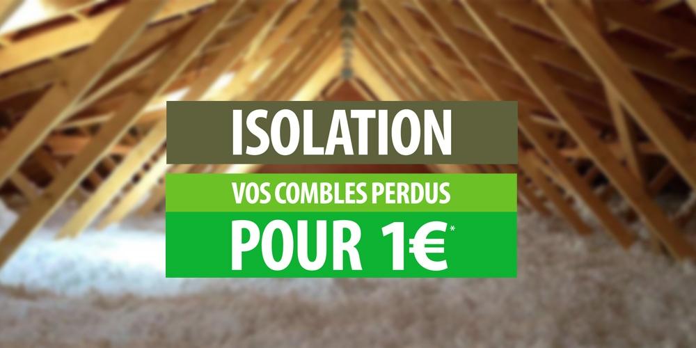 Isolation des combles perdus pour 1€ pour tous !