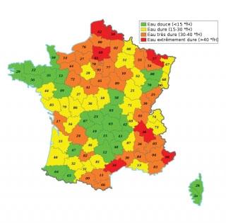 Dureté de l'eau en France