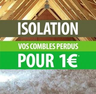 Isolation des combles perdus pour 1€, sans condition de ressources.