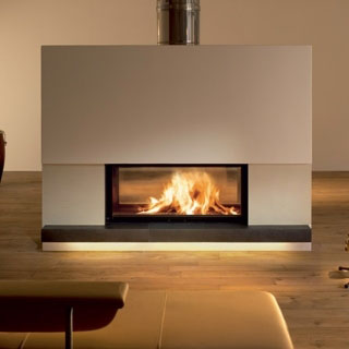 chemin e bois architecture traversante 14 5kw. Black Bedroom Furniture Sets. Home Design Ideas
