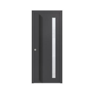 Porte d'entrée aluminium Cipolin 1