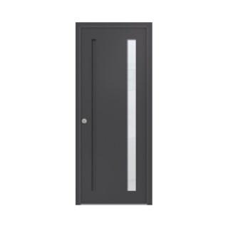 Porte d'entrée aluminium Graphite 1