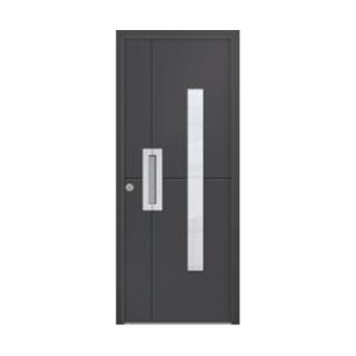 Porte d'entrée aluminium Schiste 1