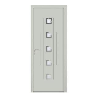 Porte d'entrée aluminium Amarante 5