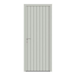 Porte d'entrée aluminium Mauve