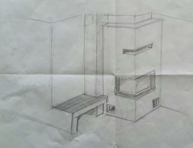 Création d'une cheminée à bois d'angle Brunner à Caluire-et-Cuire (69)