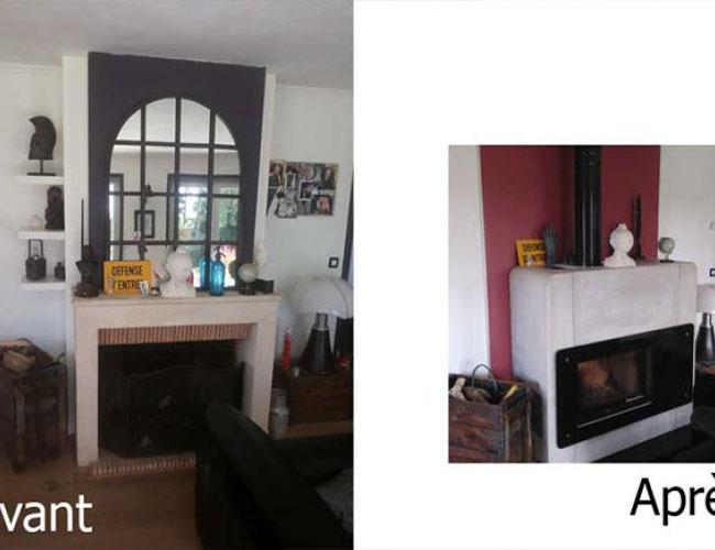 Pose d'un poêle cheminée Nordpeis Lugano sur Lille