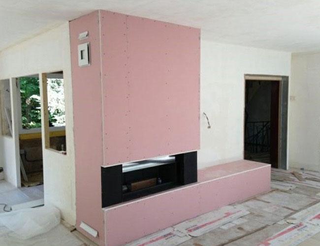 Pose d'une cheminée Brunner Architecture