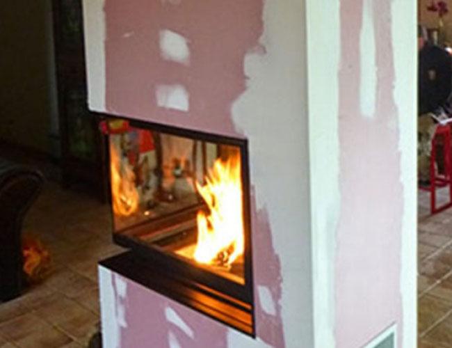 Installation d'un foyer fermé MCZ dans une maison à Rouen