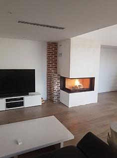 Création d'une cheminée d'angle à Ecoust-Saint-Mein (62)