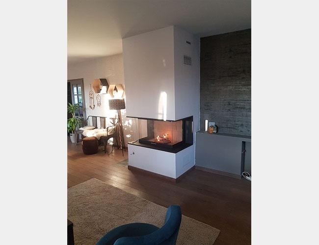 Création d'une cheminée à bois à Maroeuil (62)
