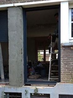 Pose de 2 porte-fenêtres alu M3D Millet