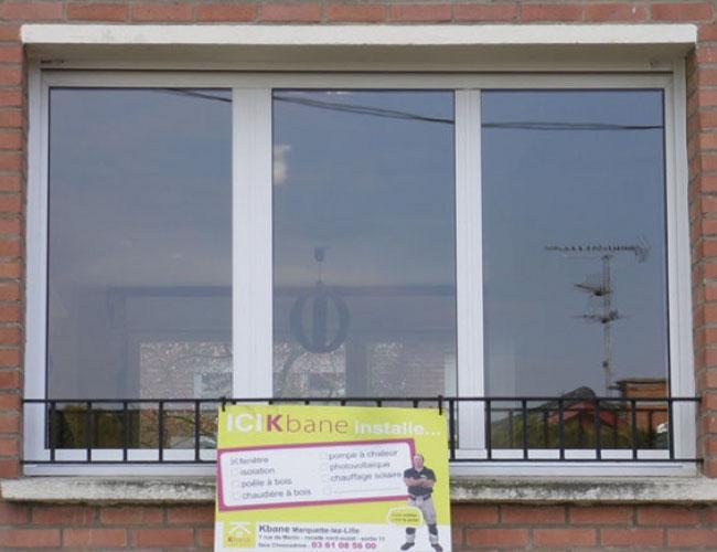 Pose d'une porte d'entrée en chêne AMCC, à Tourcoing