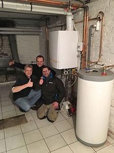 Installation d'une chaudière gaz à condensation De Dietrich à Lille (59)