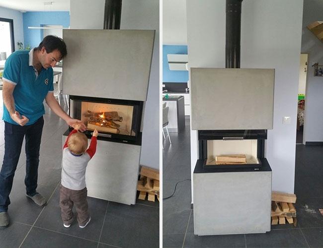 Installation d'un poêle à bois Monaco Nordpeis à Lentilly (69)