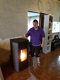 Installation d'un poêle à pellets Ego 3 MCZ