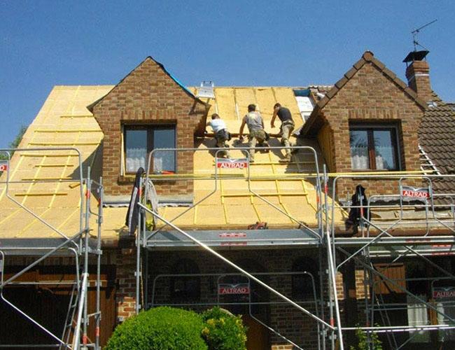 Réfection et isolation toiture dans une maison en rénovation