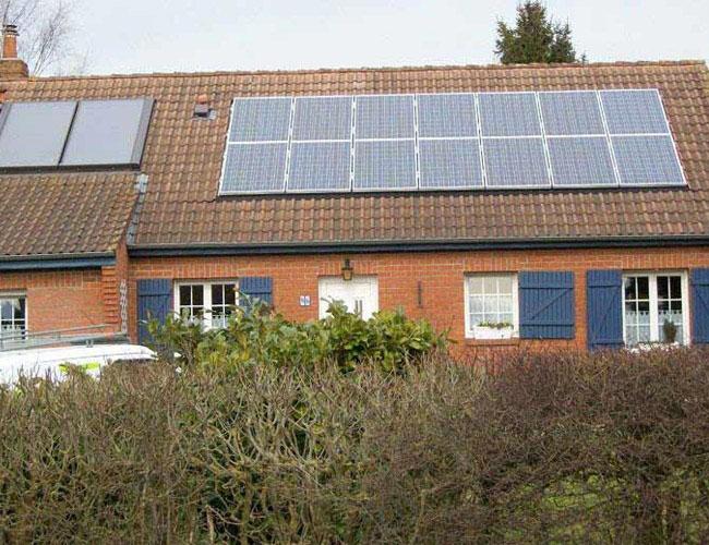 Installation de 14 panneaux solaires photovoltaïques à Villereau