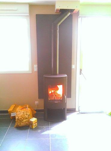Pose d'un poêle à bûchess Warm 3 dans la région de Lille