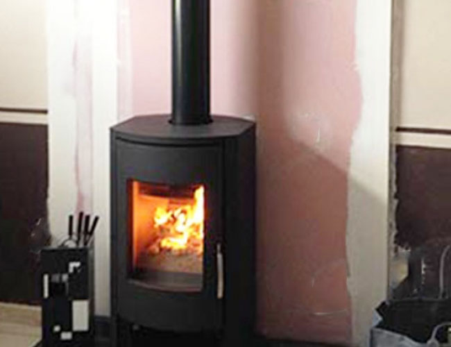 Installation d'un poêle bois Warm dans le Nord