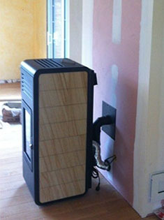 Installation d'un poêle à pellets MCZ Nima à Lille