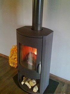 Installation d'un poêle à bois Warm 1 en Seine Maritime
