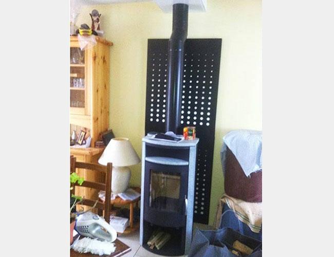 Pose d'un poêle à bois Warm 5 en Seine Maritime