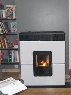 Pose d'un poêle à granulés Philo Comfort Air à Lille