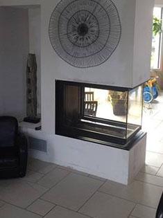 Pose foyer fermé MCZ T50 pour cheminée en Normandie