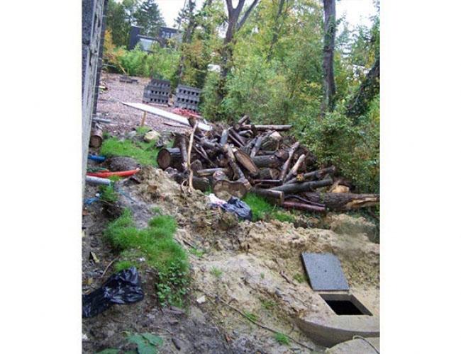 Installation de cuves, d'une pompe et d'un traitement d'eau de pluie