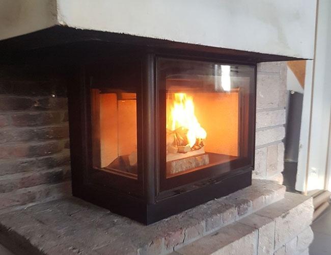 Installation d'une cheminée à bois à Puisieux (62)