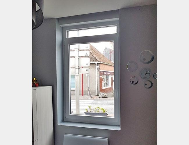 Rénovation d'une fenêtre en PVC à Cappelle-Brouck (59)