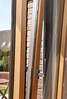 Bazie vitrée mixte alu/bois