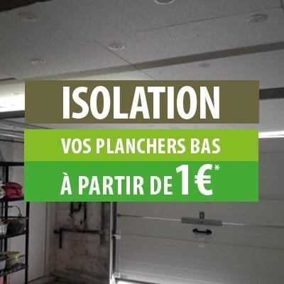 Isolation plafond de cave à partir de 1 €