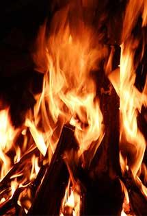 Authenticité de la flamme d'un poêle à bois